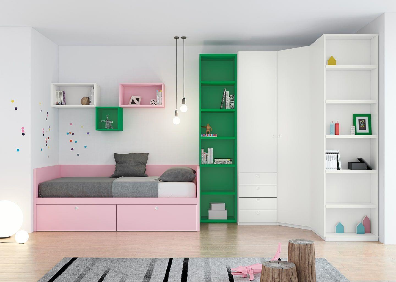 Dormitorio juvenil origami 04 bautista muebles y decoraci n for Bautista muebles y decoracion