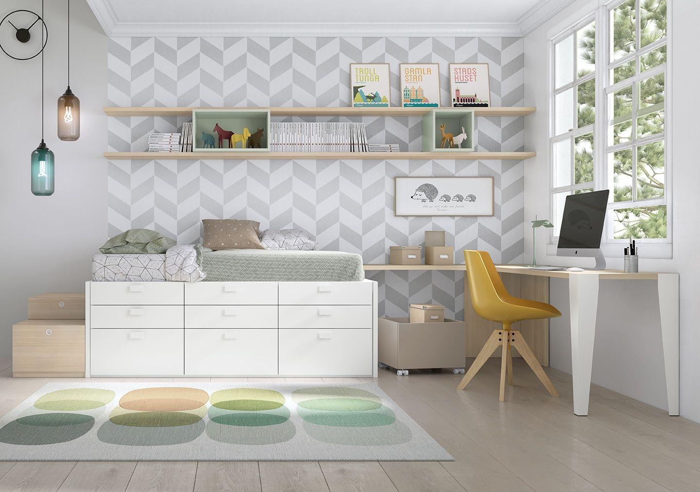 Dormitorio juvenil origami 07 bautista muebles y decoraci n for Bautista muebles y decoracion