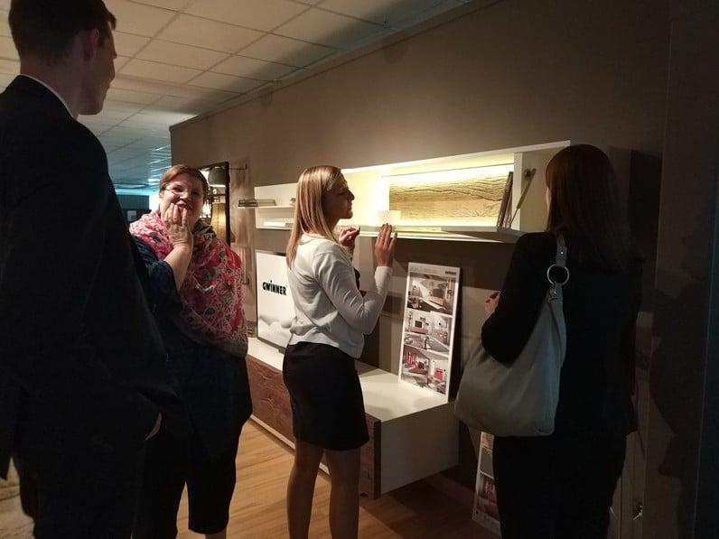 Bautista Muebles y Decoración recibe la visita de los asistentes junior de Hettich